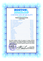 Boston Medical Center Inc. - Sertificate of quality - Super Chance